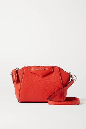 Red Antigona nano textured-leather shoulder bag | Givenchy | NET-A-PORTER