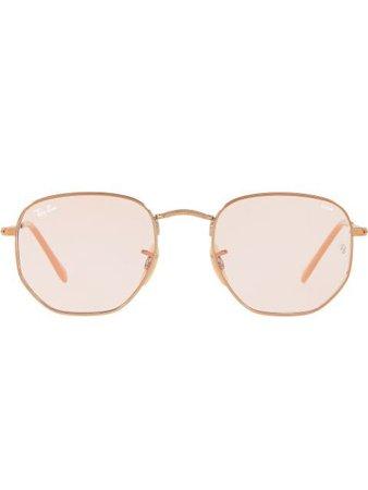 Ray-Ban Hexagonal Flat Sunglasses - Farfetch