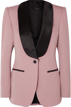 TOM FORD | Silk satin-trimmed wool-faille blazer | NET-A-PORTER.COM