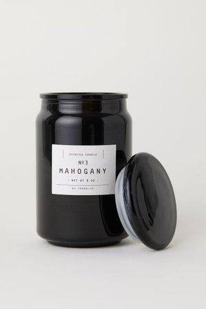 Vonná svíčka ve skleničce - Černá/mahagon - HOME | H&M CZ