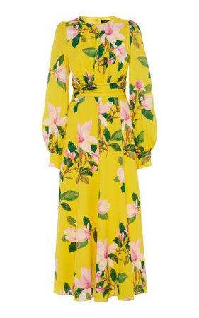 Floral Silk Midi Dress By Andrew Gn   Moda Operandi
