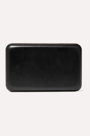 Moulded Leather Clutch - Black