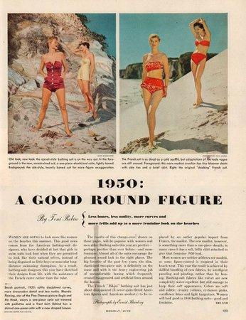 'A Good Round Figure': A 1950 Beach Fashion Magazine Spread - Flashbak