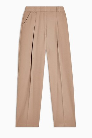 Mink Twill Slouch Tapered Trousers   Topshop