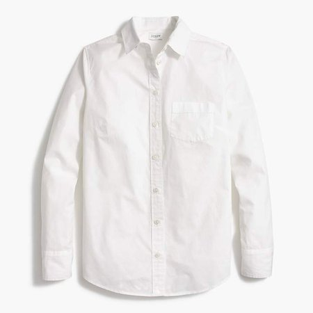 Button-up cotton poplin shirt in perfect fit