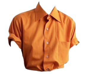 Orange tight shirt discovered by Lill-Marie on We Heart It