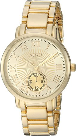 Amazon.com: XOXO Women's Analog-Quartz Watch with Alloy Strap, Gold, 16 (Model: XO200): Watches