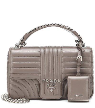 Diagramme Leather Shoulder Bag | Prada - Mytheresa