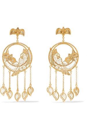 Mallarino | Catalina gold vermeil earrings | NET-A-PORTER.COM
