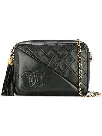 Chanel Vintage Bolsa De Hombro Capitonada Con Logo CC - Farfetch