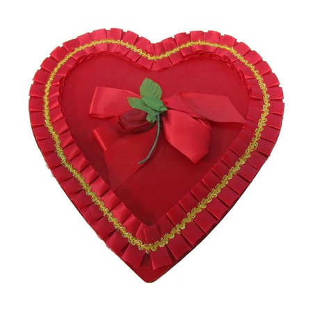 """11"""" Red Valentine Heart Candy Box Russel Stover : The Vintage Sewing Box 
