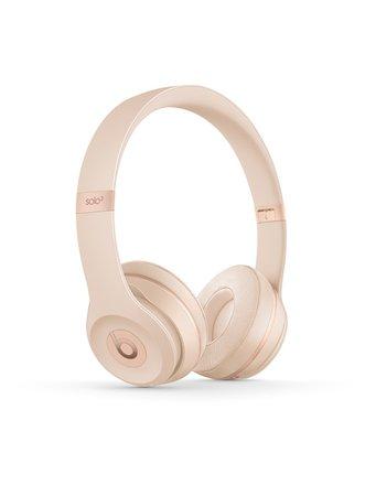 Buy Beats Solo 3 Matte Gold Headphones | Beats by Dre Earphones | HMV Store