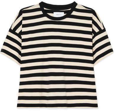 The Roadie Striped Cotton-jersey T-shirt - Black