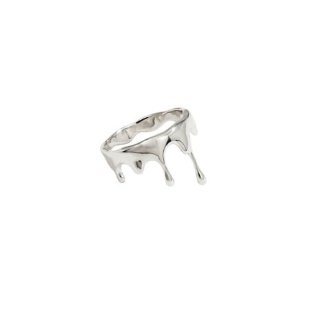 Dripping Small Sterling Silver Ring | MARIE JUNE Jewelry | Wolf & Badger