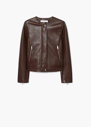 Zipped biker jacket  Mango