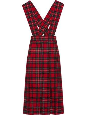 Miu Miu plaid mid-length dress