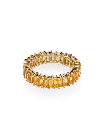 Dana Rebecca Designs 18kt yellow gold and yellow sapphire set ring - FARFETCH