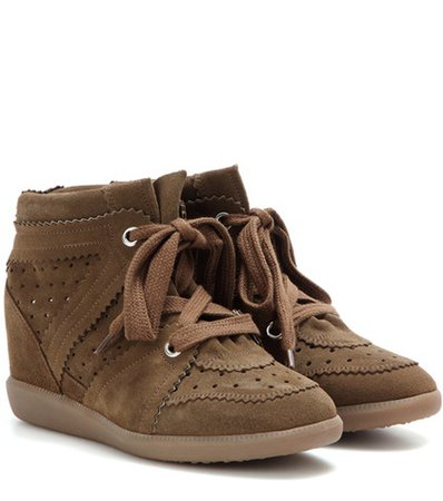Bobby suede wedge sneakers