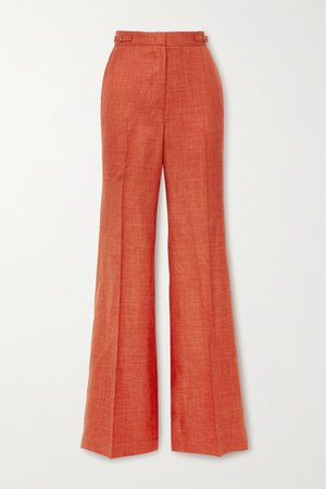 Orange Vesta wool, silk and linen-blend straight-leg pants | Gabriela Hearst | NET-A-PORTER