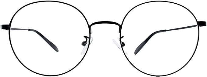 Southern Seas Classic Round Reading Glasses Mens Womens +0.25 Readers Black Metal Frames Eyewear: Amazon.co.uk: Health & Personal Care