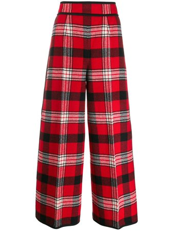 Dsquared2 High Waisted Checked Trousers | Farfetch.com