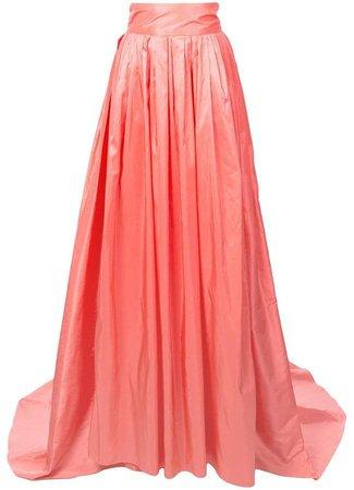 high waisted organza skirt
