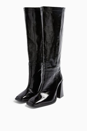 TAMBI Black Leather Knee Boots | Topshop
