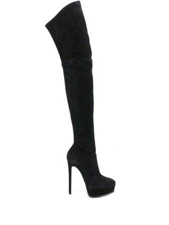 Casadei Over The Knee Stiletto Boots - Farfetch