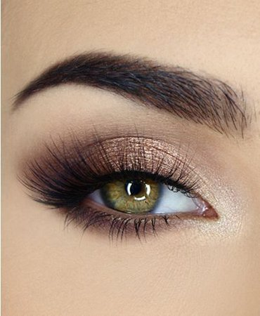 Gold & Light Smokey Brown Eye Makeup