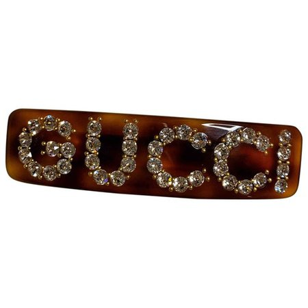 Crystal hair accessory Gucci Brown in Crystal - 9126204