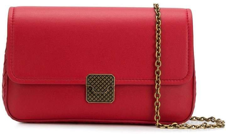 Textured Lock Crossbody Bag