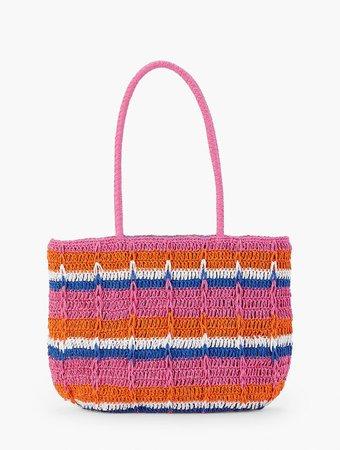 Straw Tote Bag - Stripe   Talbots