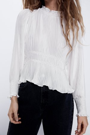 PLEATED BLOUSE | ZARA United States