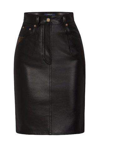 Louis Vuitton Leather Skirt