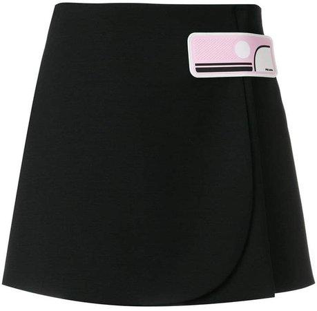 appliqué short skirt