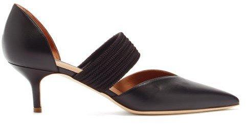 Maisie Leather Kitten-heel Pumps - Black