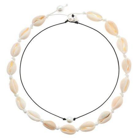 Fancyleo - Fancyleo Shell Choker Necklace Women Seashell Pearls Choker Necklace Cord Necklace Set - Walmart.com