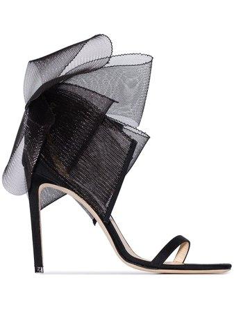 Black Jimmy Choo Aveline bow detail sandals - Farfetch