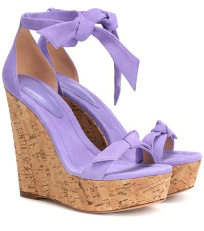 Clarita 120 suede wedge sandals
