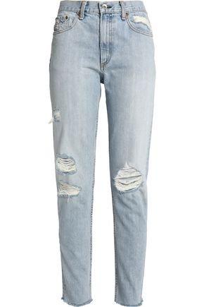 Marilyn distressed boyfriend jeans   RAG & BONE/JEAN   Sale up to 70% off   THE OUTNET