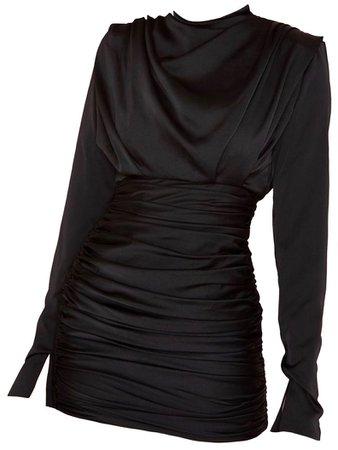 HOUSE OF CB Black Giorgiana Silk Dress