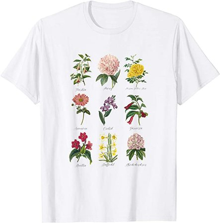 Amazon.com: Vintage Botanical Floral Flower T-Shirt: Clothing