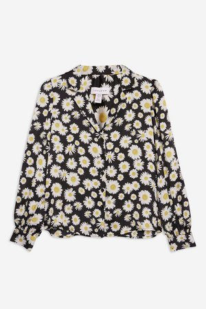 Daisy Print Long Sleeve Shirt - New In Fashion - New In - Topshop