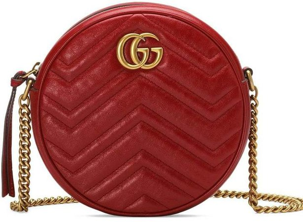 GG Marmont mini leather round shoulder bag