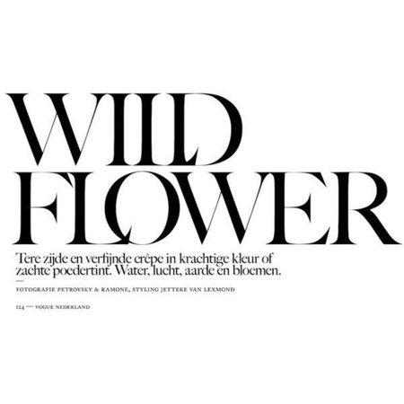 wild flower text