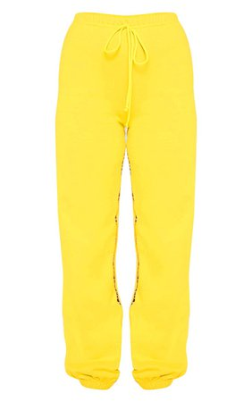 PRETTYLITTLETHING Yellow Joggers | PrettyLittleThing USA
