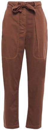 Cropped Stretch-cotton Tapered Pants