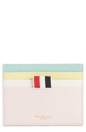 Thom Browne Leather Card Holder | Nordstrom