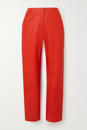 Stand Studio | Zoe leather straight-leg pants | NET-A-PORTER.COM