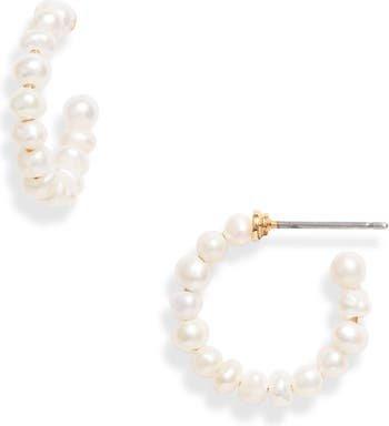 Lele Saoughi Pearl Huggie Hoop Earrings   Nordstrom